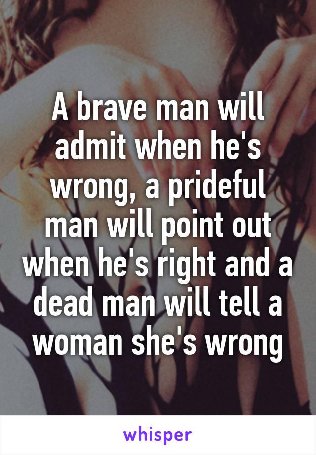 a prideful man