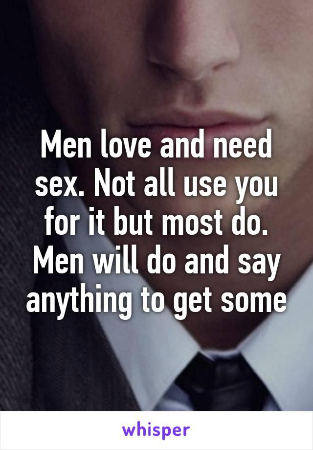 men who need sex