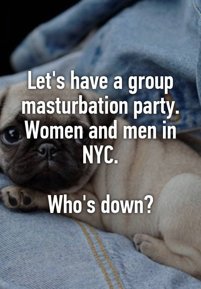 Not group masturbation nyc criticising write