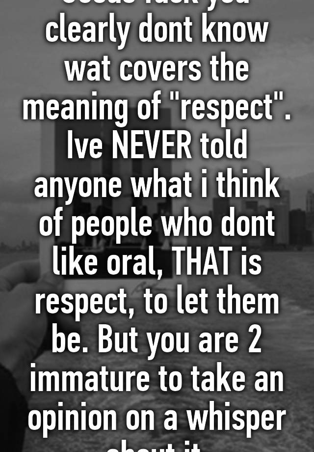 what is the meaning of respect