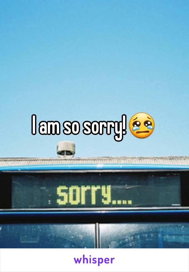 I am so sorry!😢