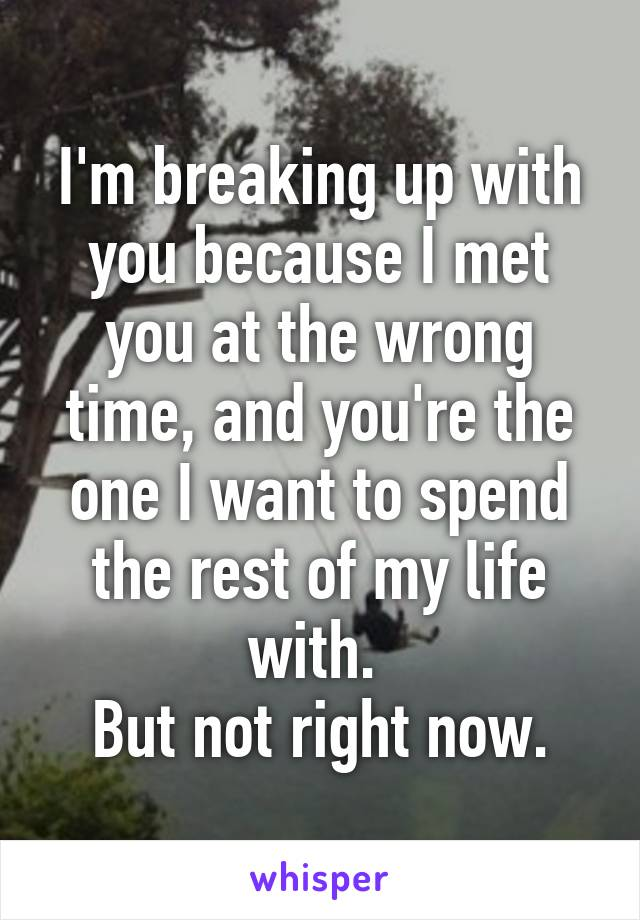Why i m breaking up with you