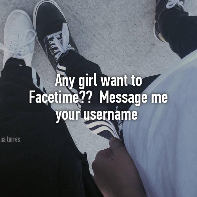 Facetime girl usernames