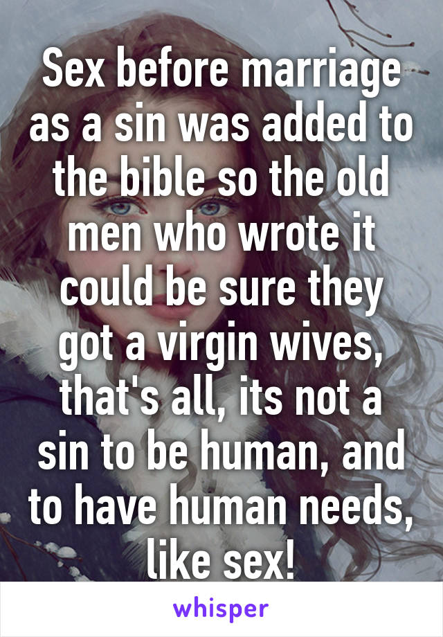 Bible say about sex before marriage