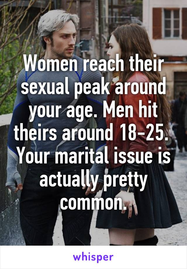 When do women hit their sexual prime
