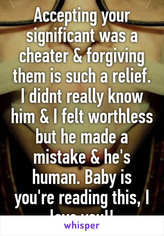 Forgiving a cheater