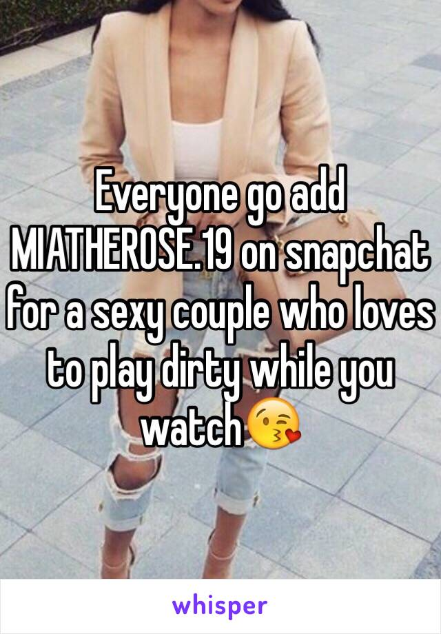 Sexy snaps to add