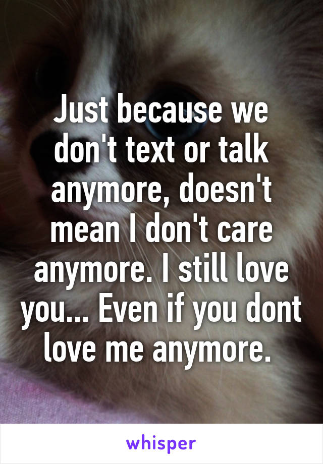 if you still care