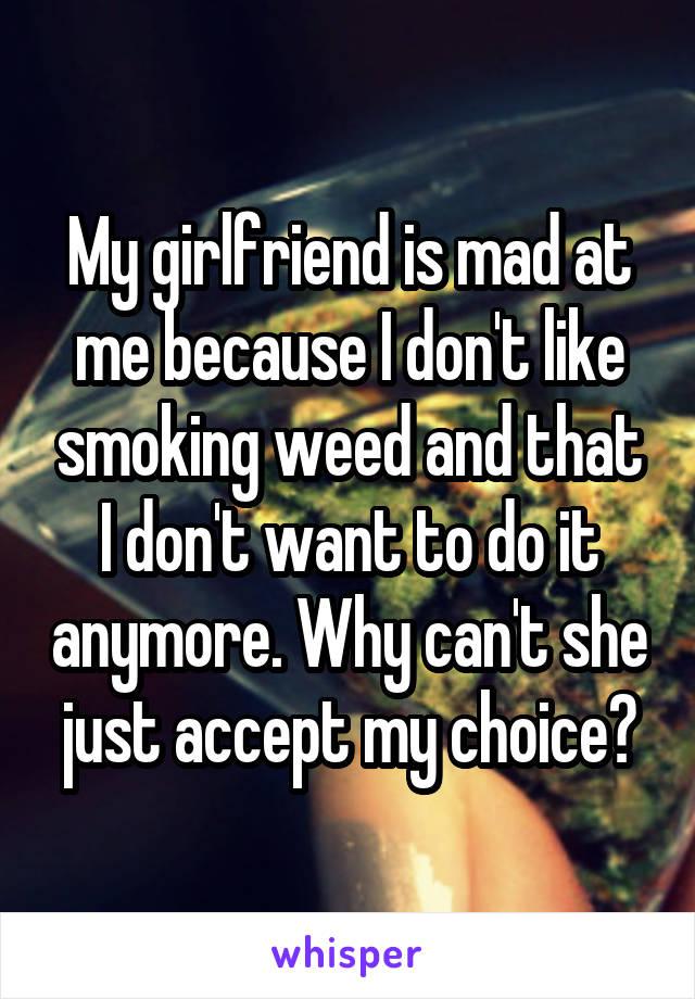 Girlfriend smoking weed I Stopped