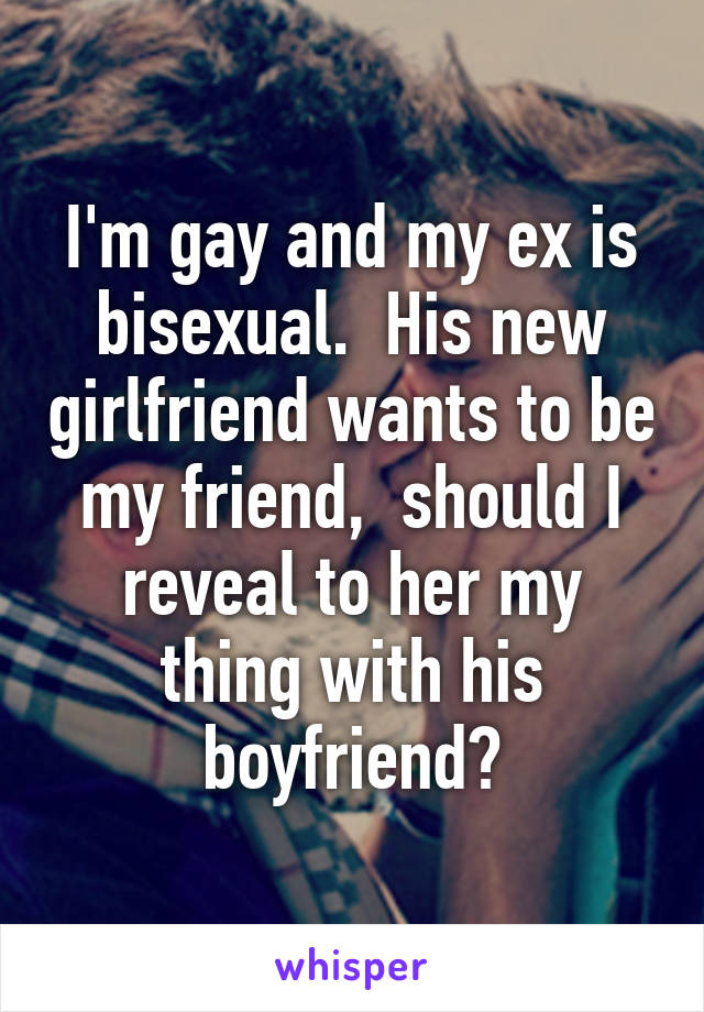 Bisexual friend new
