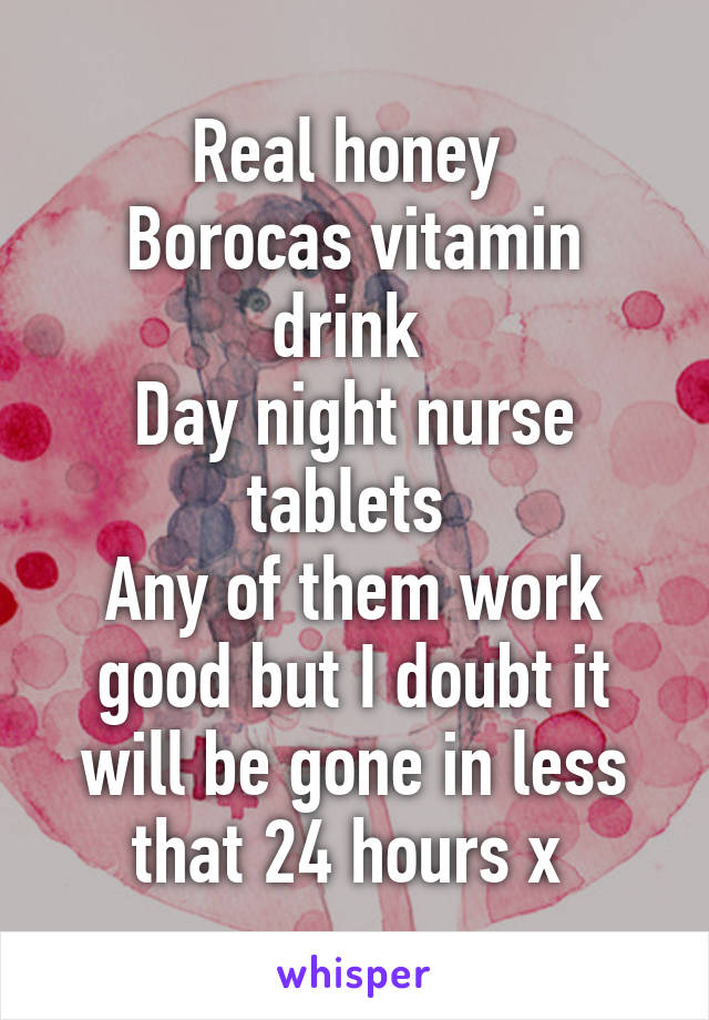 Awesome Real Honey Borocas Vitamin Drink Day Night Nurse Tablets Any Home Interior And Landscaping Ologienasavecom