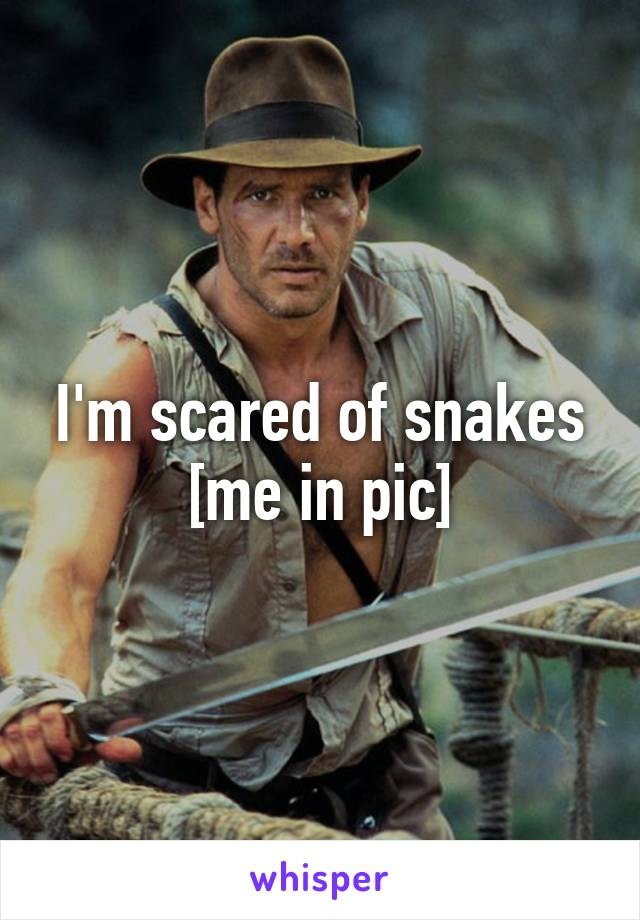 I'm scared of snakes [me in pic]