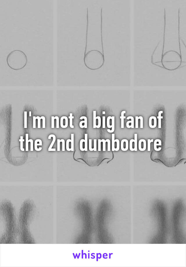 I'm not a big fan of the 2nd dumbodore