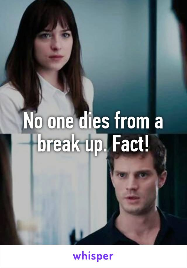 No one dies from a break up. Fact!