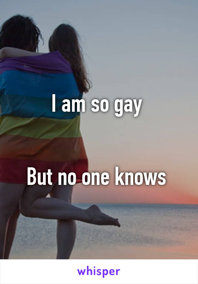 I am so gay    But no one knows