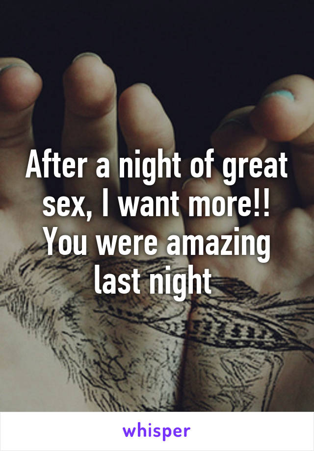 last night sex