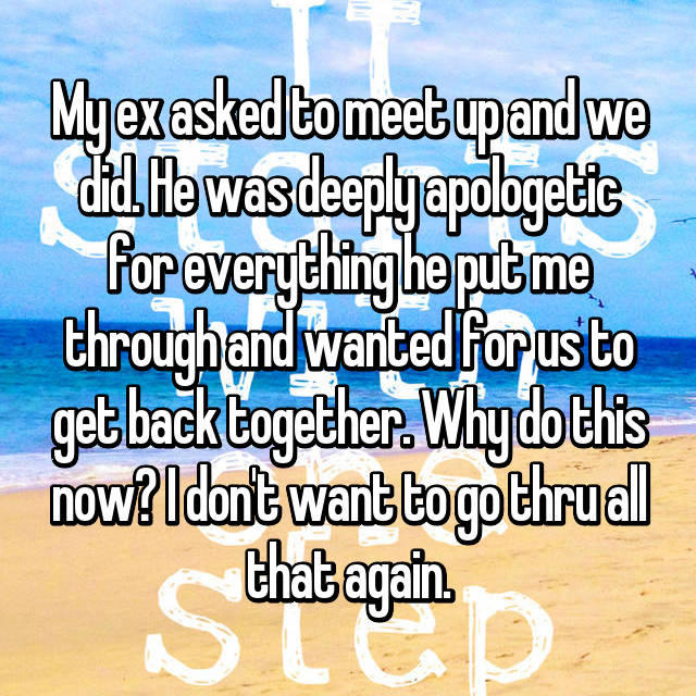 Why does my ex want to meet up