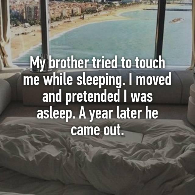 While me sleep touches son i I Was