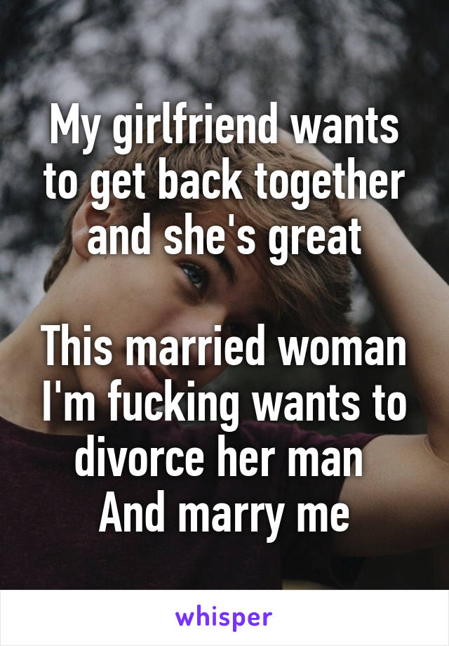 my girlfriend wants to get married