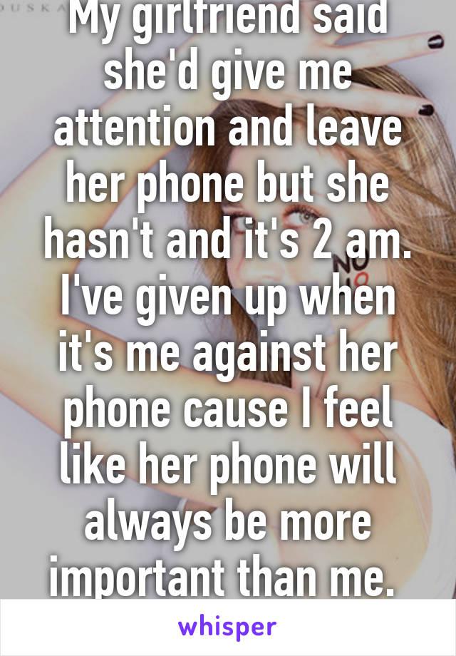 On My Phone Is Always Girlfriend Her