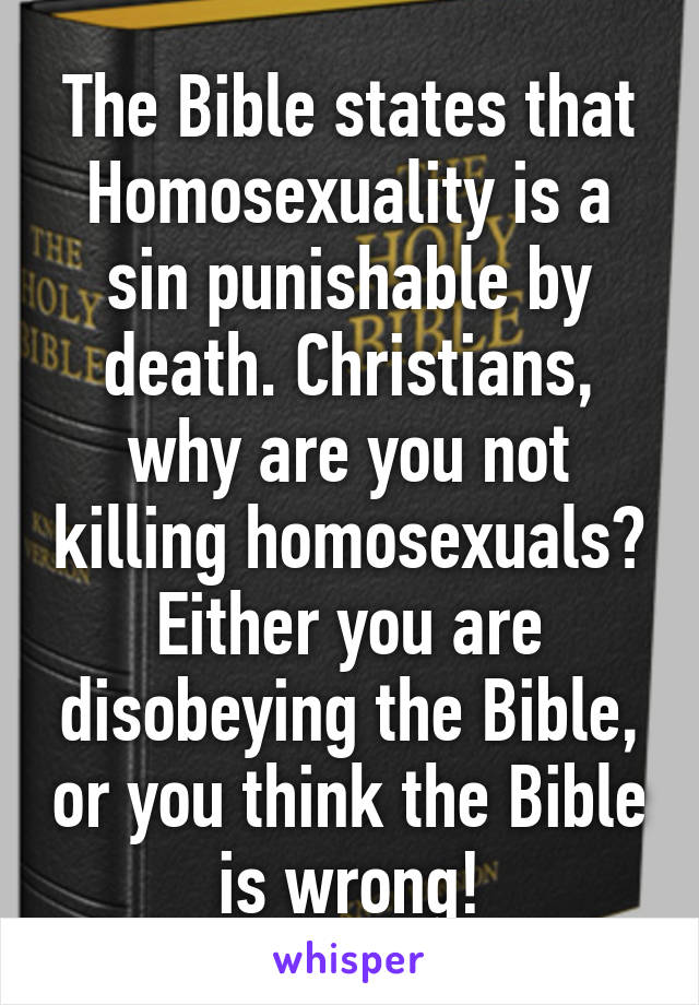 Is homosexuality a sin in christianity