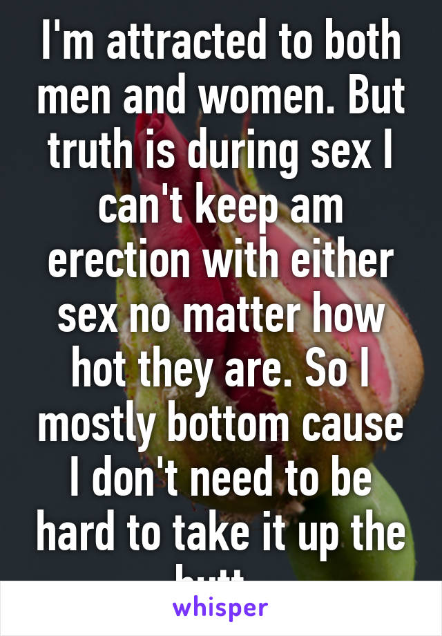 Cant keep an erection during sex