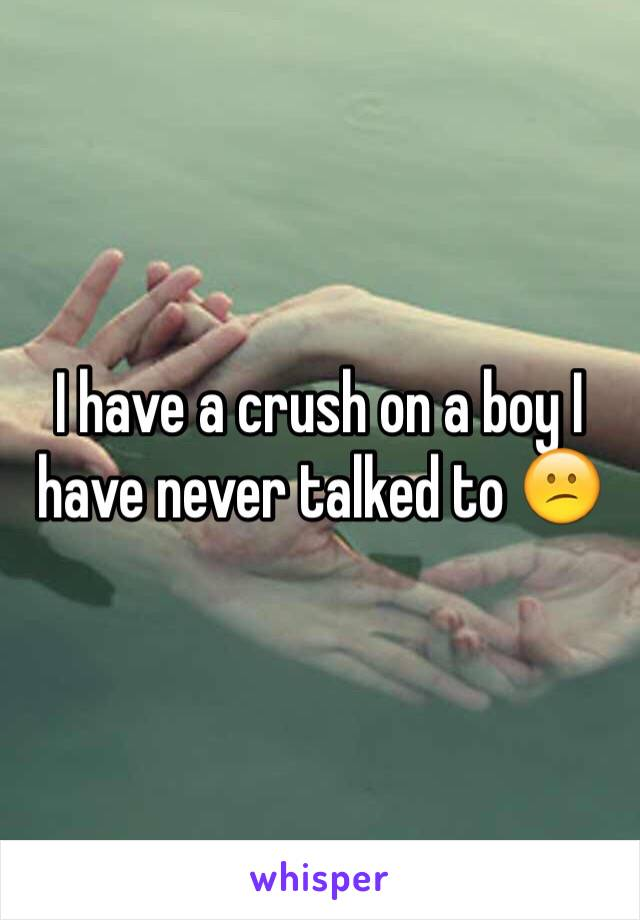 I have a crush on a boy I have never talked to 😕