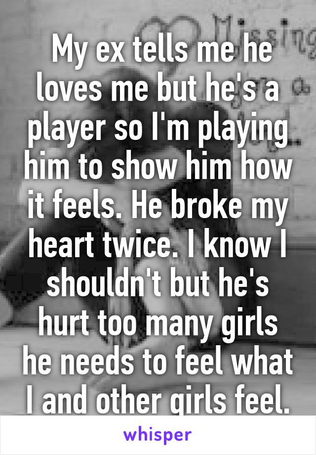 my ex is a player