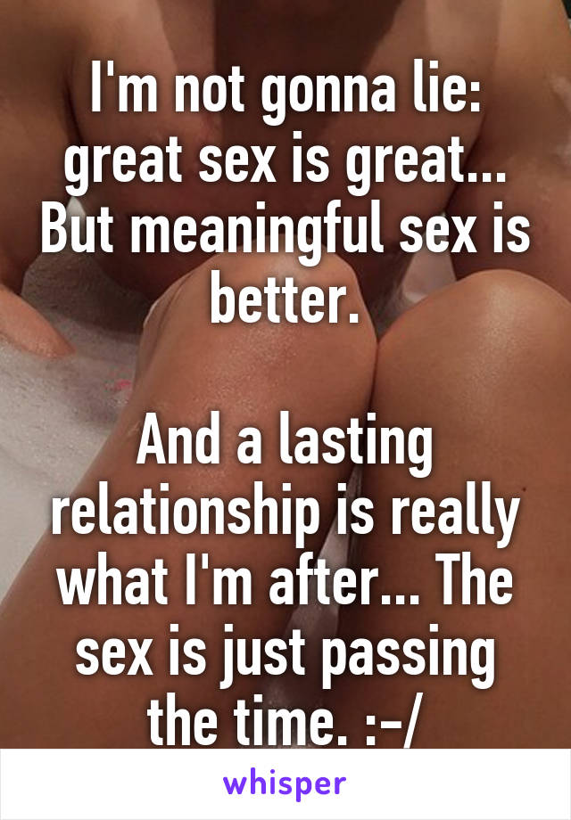 what is great sex