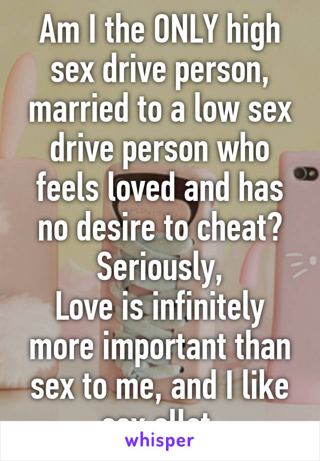 Dating high sex drive