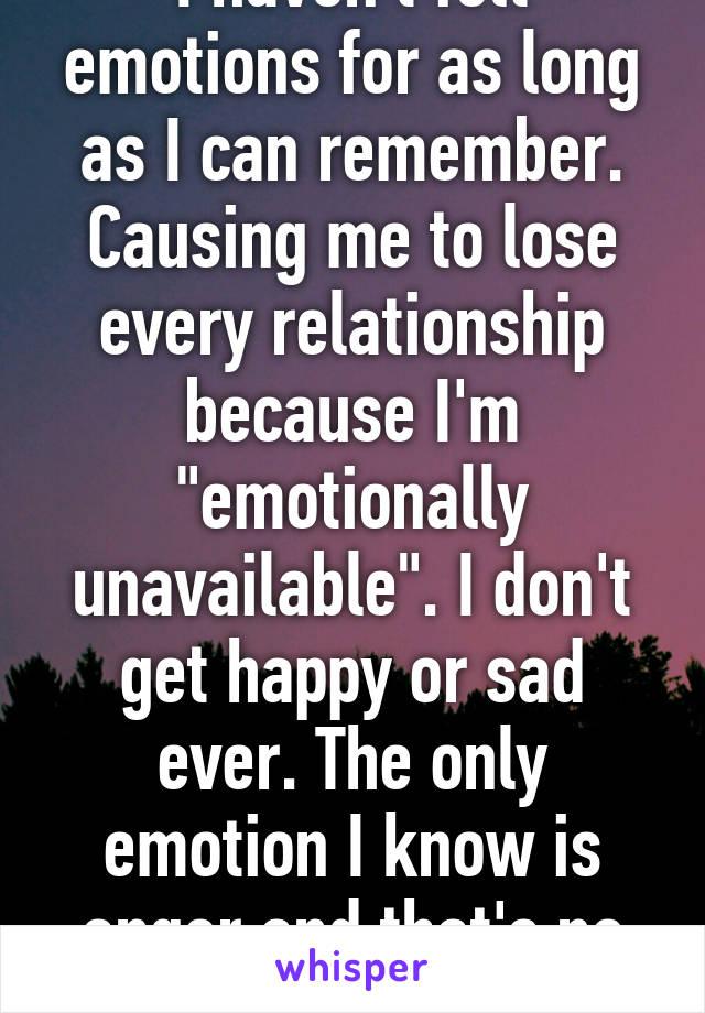 Emotional unavailability causes