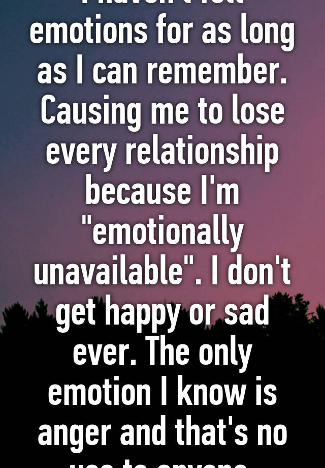Emotional unavailability causes