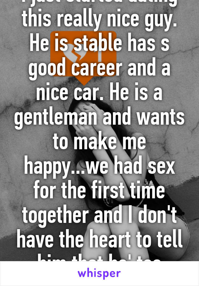 Dating a guy with a nice car