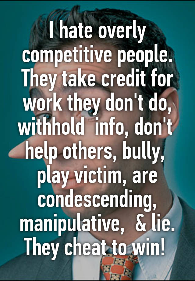 competitive people