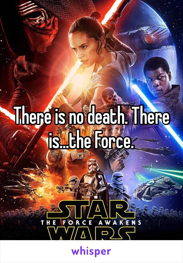 There is no death. There is...the Force.