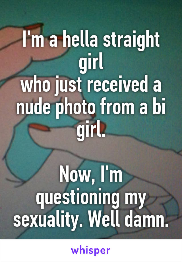 Straight girl questioning sexuality