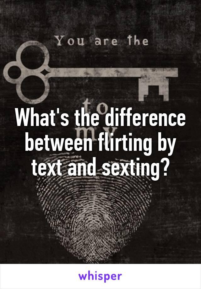 whats considered flirting