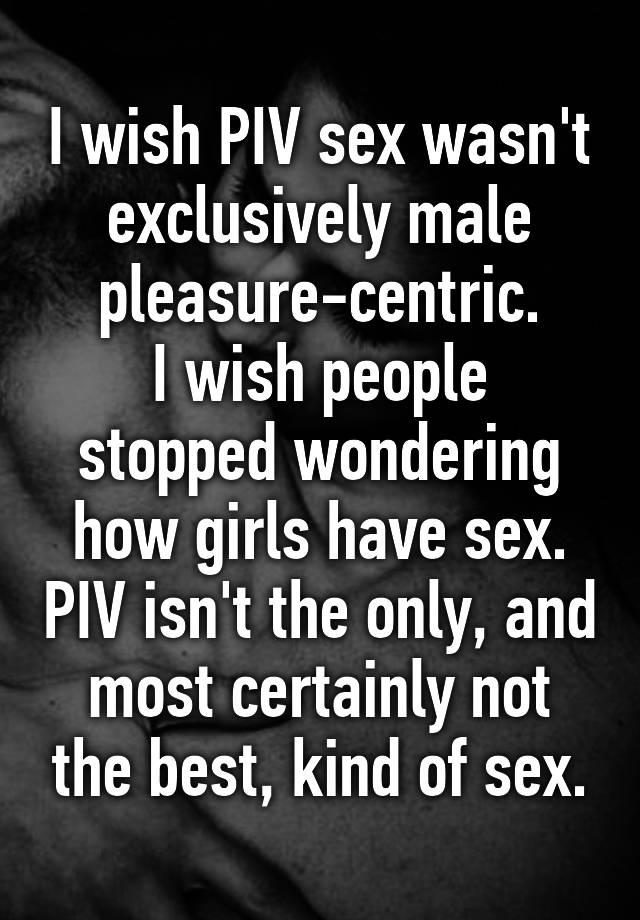 Piv Sex