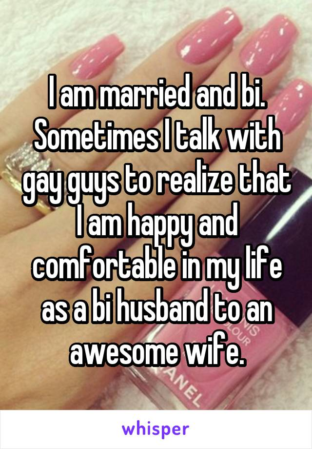 married but think im gay