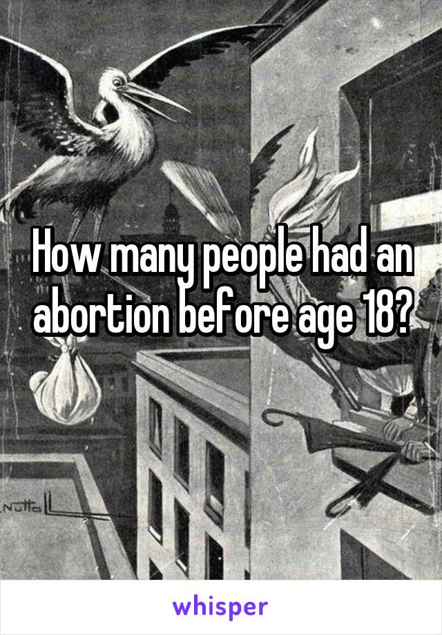 How many people had an abortion before age 18?