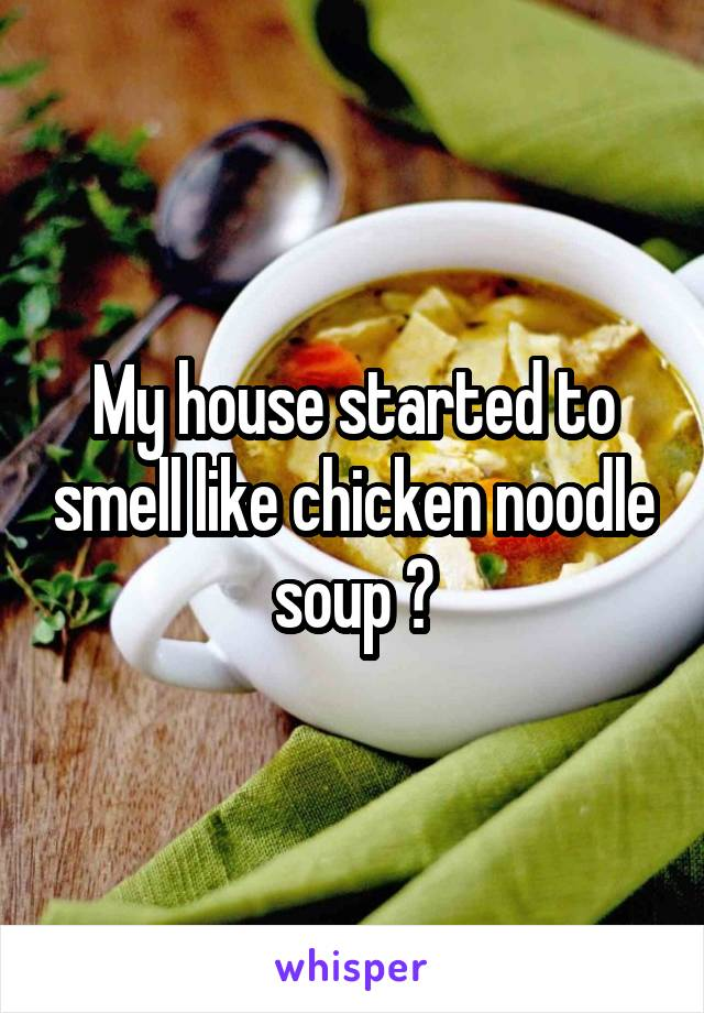 My house started to smell like chicken noodle soup ☆