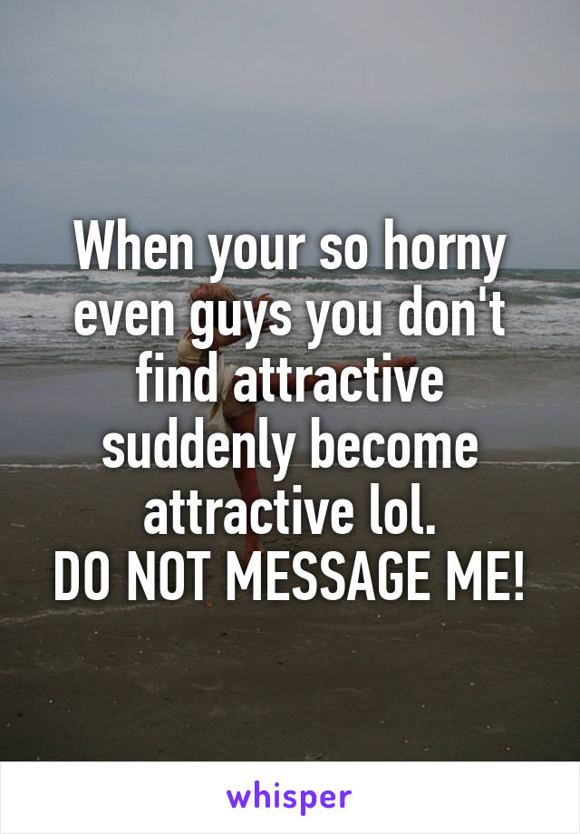 why are guys so horny