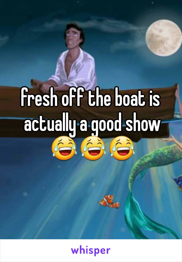 fresh off the boat is actually a good show 😂😂😂