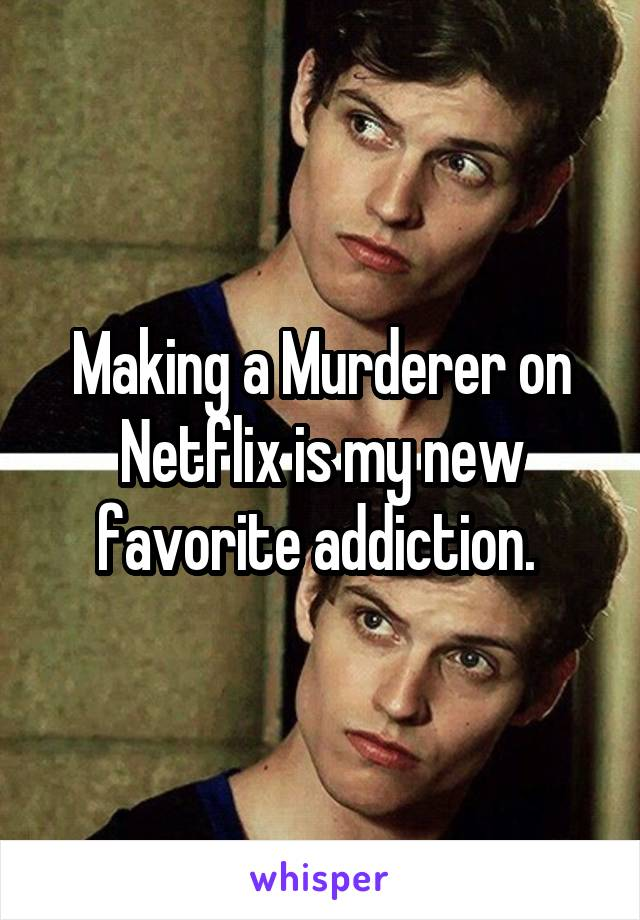 Making a Murderer on Netflix is my new favorite addiction.