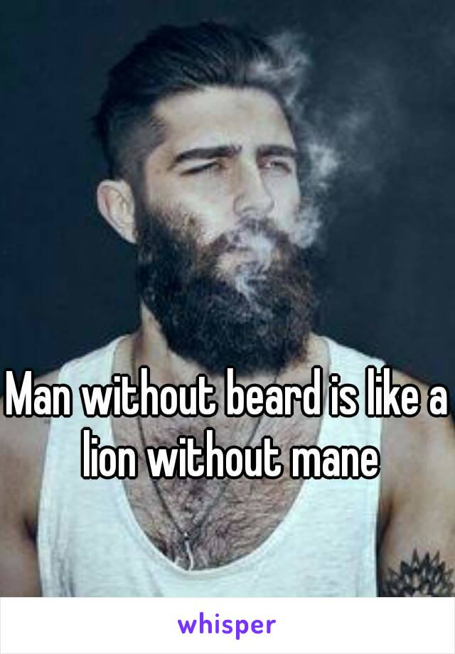 Man without beard is like a lion without mane