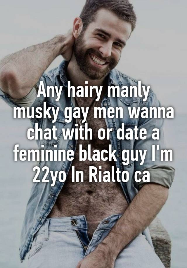 Hairy black gay men
