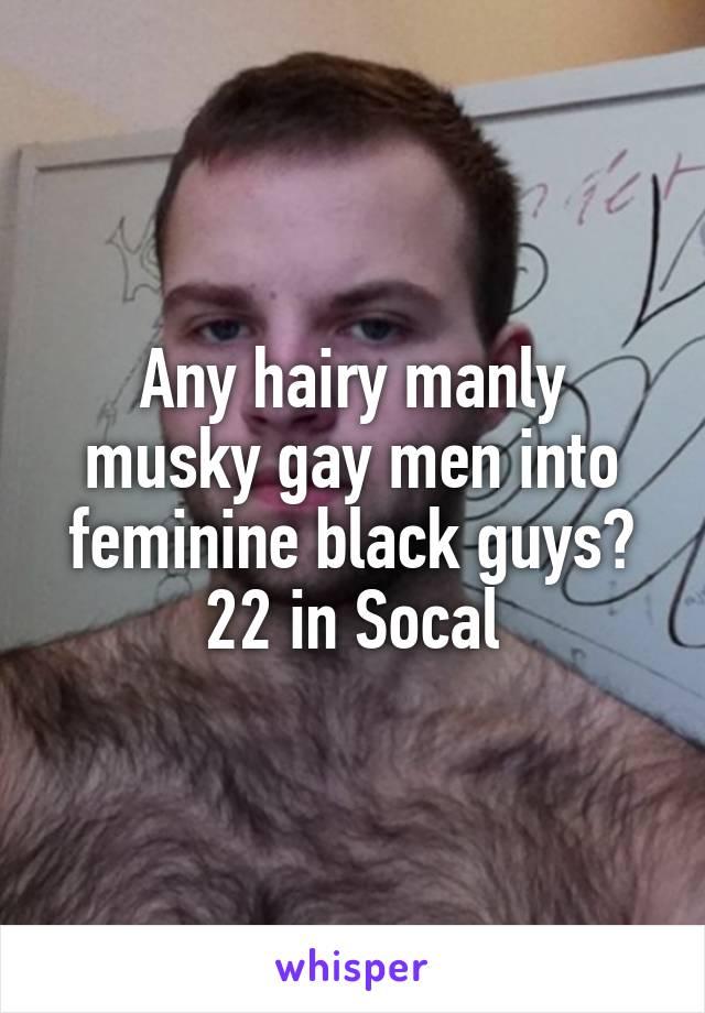Hairy black guy