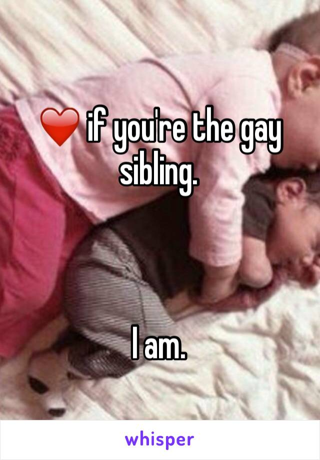 ❤️ if you're the gay sibling.     I am.