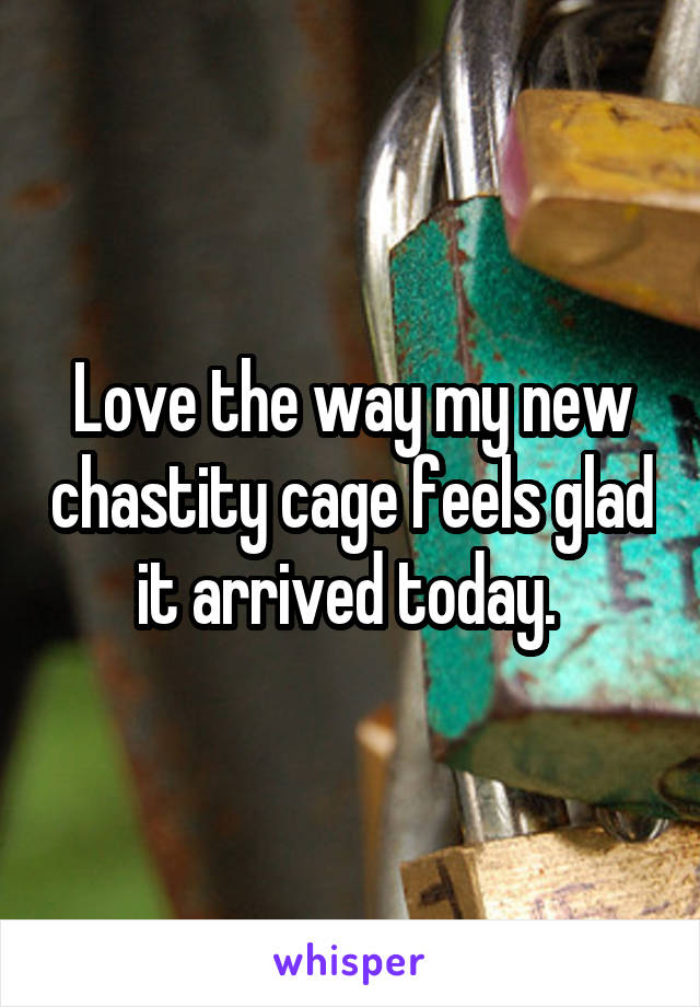 Love the way my new chastity cage feels glad it arrived today.