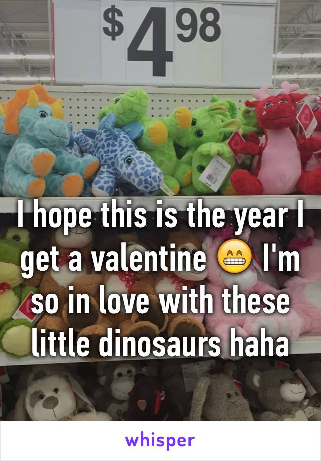 I hope this is the year I get a valentine 😁 I'm so in love with these little dinosaurs haha